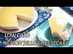 LEMON JELLO CHEESECAKE - Low Carb, Sugar Free, Gluten Free, Nut FreeWhy don't you start the spring season with this Lemo