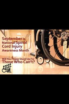 Spinal cord injury awareness month!