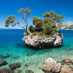 Kamen Brela, Brela, Dalmatian Coast, Croatia by Daniel Newcombe, via Flickr