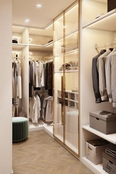 10 Luxury closet design Ideas que fará sua Jaw Gota Wardrobe Room, Wardrobe Design Bedroom, Master Bedroom Interior, Master Bedroom Closet, Bedroom Interiors, Walk In Closet Design, Closet Designs, Casa Magna, Mini Dressing