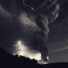Angry nature. Thunderstorm. Tornado