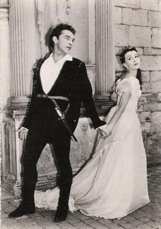 strangedazeyage:  Richard Burton as Hamlet Claire Bloom as Ophelia 1954.