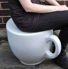 Teacup Stool by Holly Palmer: Made of MDPE plastic. Available in white, yellow, red and orange. £139.99 http://tinyurl.com/aq9q2p