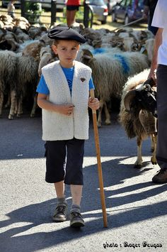 Young sheepherder in Pyrenees