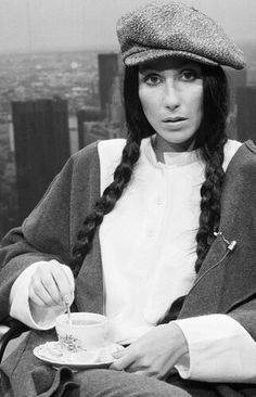 Cher with a cup of #tea.