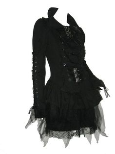 Black gothic dress with corset and grommet Halloween Bridesmaid Dress, Bridesmaid Dresses, Black Gothic Dress, Goth Dress, Punk Goth, Japanese Fashion, Corsets, Gothic Fashion, Darkness