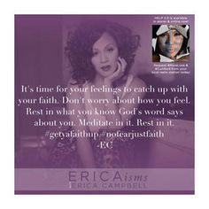Erica Campbell quote from instagram.