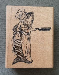 Rubber Stamp Fish Fry | eBay