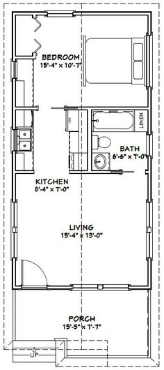 16x32 Tiny House -- #16X32H1F -- 511 sq ft - Excellent Floor Plans