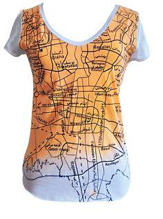 ALANGOO - Handcrafted Tehran Map T-Shirt