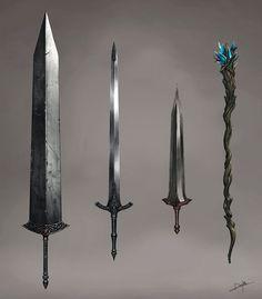 A new commish for *Forsaken2544, of Torea Sterling's blade, Thryvanstael. lol…