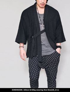 Outerwear :: Cardigans :: Brushed Slub Kimono Jacket-Cardigan 221 - GUYLOOK Men's Trendy Fashion Clothing Online
