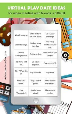 When kids can't meet up with their friends, here are some games to play on Facetime with friends, to make a virtual play date more fun! games to play over facetime Games To Play With Kids, Activities For Kids, Kids Fun, Virtual Games For Kids, Play Online, Online Games, Zoom Online, Online Fun, Meeting Games