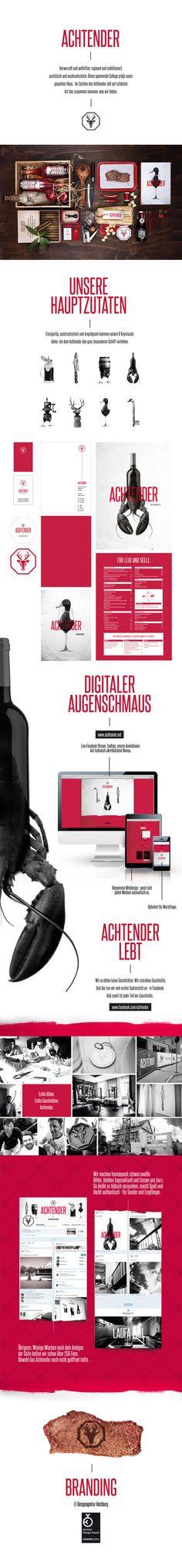 Achtender / Branding by HOCHBURG, via Behance