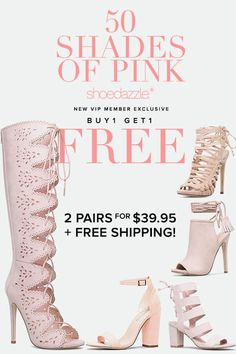 "BOGO Spring Styles are In! Get Your First 2 Styles for Only $39.95! Make sure you're up to date on the hottest trends by signing up as a Shoedazzle VIP. You'll enjoy a new boutique of personalized styles each month, as well as exclusive pricing, early access to sales & free shipping on orders over $39. Don't think you'll need something new every month? No problem! Click ""Skip The Month"" in your account by the 5th and you won't be charged. Take the Style Quiz today to get this exclusive…"