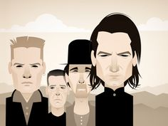 My homage to Anton Corbijn's photograph of for the cover of The Joshua Tree Best Rock Bands, Cool Bands, U2 Band, Stanley Chow, Random Web, Bono U2, Cinema Tv, Stencil Art, Chow Chow