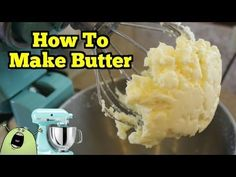 How To Make REAL BUTTER in a KitchenAid Mixer You can make Raw or Whole Real Butter in your Kitchen Aid Mixer in less than 10 minutes, and it tastes better than any butter you can buy in the store! Kitchen Stand Mixers, Kitchen Aid Mixer, Kitchen Aide, Kitchen Tools, Kitchen Gadgets, Kitchen Aid Recipes, Cooking Recipes, Dairy Recipes, Skillet Recipes