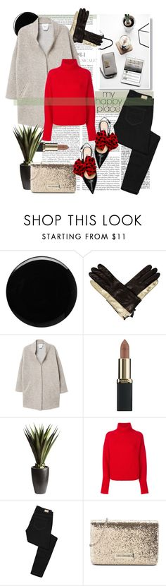 """""""Friday Is Everyone's Favourite Day!"""" by katartrina ❤ liked on Polyvore featuring Deborah Lippmann, Diane Von Furstenberg, MANGO, L'Oréal Paris, Pier 1 Imports, Le Kasha, Paige Denim and Love Moschino"""