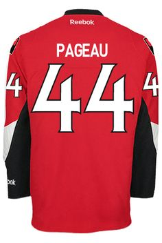 Ottawa Senators Jean-Gabriel PAGEAU #44 Official Home Reebok Premier Replica NHL Hockey Jersey (HAND SEWN CUSTOMIZATION) Ottawa, Gabriel, Reebok, Nhl Hockey Jerseys, Stanley Cup Finals, Hand Sewn, Jeans, Red, Beginning Sounds