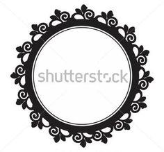 Barocco Bordo Cerchio Con stock immagine vettoriale - Clipart.me