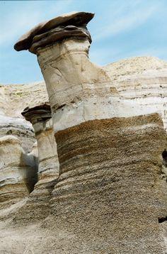Hoodoos, Drumheller Alberta (aka the Mushroom Planet).  #GILoveAlberta