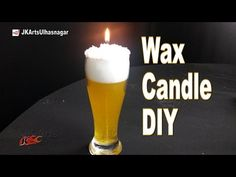 DIY Beer Glass candle |  How to Make Gel Candle | Gift Idea | JK Arts 1099 - YouTube