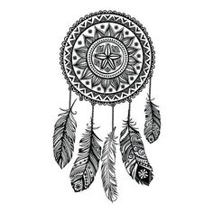 dreamcatcher temporary tattoo by stayathomegypsyshop on Etsy, $7.50