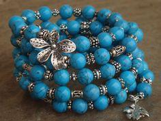 Multistrand Bracelet Turquoise Bracelet by ClareCorreCreations