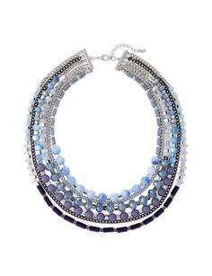 Inspired by cool colors, this necklace is layered in oceanic sophistication.