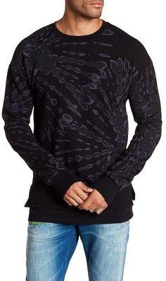 Scotch & Soda Allover Print Crew Neck Sweatshirt