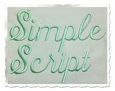 $2.95Simple Script Machine Embroidery Font Alphabet