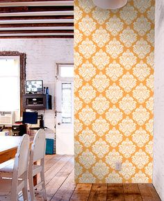 Removable Tiles For Apartment Decorating Removable Wallpaper Parliment Tile Peel & Stick Self Adhesive