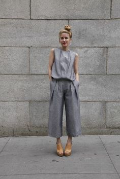 ways to style your cullotes perfectly 33 Looks Street Style, Street Look, Street Chic, Office Looks, Look Fashion, Daily Fashion, Net Fashion, Paris Fashion, Street Fashion