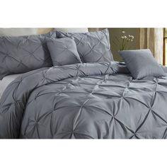 Charlton Home® Currin Comforter Set & Reviews | Wayfair Grey Comforter Sets, Bed & Bath, Accent Pillows, Comforters, Bedding, Blanket, Bedroom, Home, Design