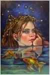 Dreams on a starry night..oils on linen by xxaihxx