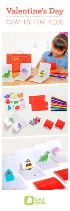 Fun and Easy Valentine's kids' project from Kiwi Crate! Learn more >>