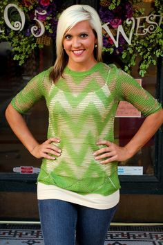 """""""Diedre""""  Chevron Sweater.  $32.50.  S, M, L.  Available at 105 West Boutique in Abbeville, SC.  (864) 366-WEST.  Shipping $5."""