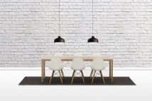 Brick Wall - White - Wall murals - Photowall