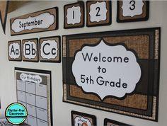 Burlap Theme Classroom Decor Bundle                                                                                                                                                                                 More