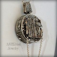 Locket Necklace Fine Silver PMC by asterrisk on Etsy, $340.00