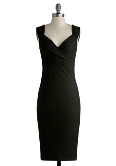 I already have it and love it in blue... Lady Love Song Dress in Black - Black, Solid, Party, Cocktail, Pinup, Minimal, LBD, Sheath / Shift, Sleeveless, Better, V Neck, Variation, K...