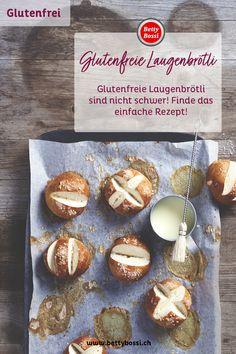 Die leckeren Brötchen gibt es nun auch Glutenfrei! Stelle selber deine glutenfreien Laugenbrötchen her! Muffin, Breakfast, Food, Gluten Free Flour, Bread Baking, Food Portions, Simple, Food Food, Food Recipes
