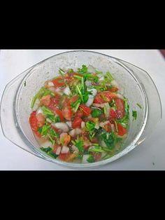 Chismol  Onion,tomatoes,cilantro and lemon
