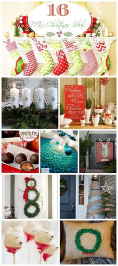 There+are+only+14+more+days+until+Christmas+which+is+still+plenty+of+time+to+get+your+DIY+Christmas+decorations,+treats,+and+gifts+complete!+To+help+inspire+all+of+the+procrastinators+out+there,+I+have+put+together+a+post+featuring+16+DIY+Christmas+Ideas+that+are+easy+to+replicate.+Enjoy!