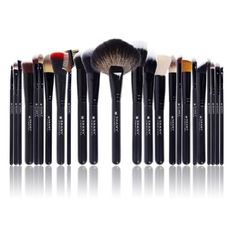 SHANY Pro Signature Brush Set 24 Pieces Handmade Natural/Synthetic Bristle with Wooden Handle, The Masterpiece -- Find out more details by clicking the image : Makeup Set Best Makeup Brushes, Best Makeup Products, Beauty Products, Beauty Tips, Beauty Brushes, Cosmetic Brushes, Beauty Hacks, Makeup Storage, Makeup Brush Set