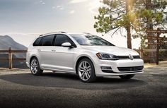 """""""The wagon that'll make you rethink the wagon."""" 2015 Volkswagen Golf Sportwagen. Turbocharged. Hatchback. New technology. Touchscreen navigation. Available at Brookdale Volkswagen."""