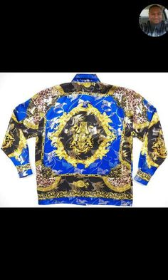 Blue n Gold Versace Shirts, My Generation, Gianni Versace, Cool Outfits, Graphic Sweatshirt, Sweatshirts, Long Sleeve, Sweaters, Mens Tops