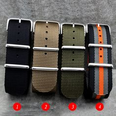 High Quality for Nylon Zulu Watch Band straps With Stainless Steel Silver Buckles 18mm 20mm 22mm 24mm Fashion men women strap #Affiliate