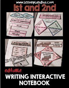 Editable Interactive Writing Notebook
