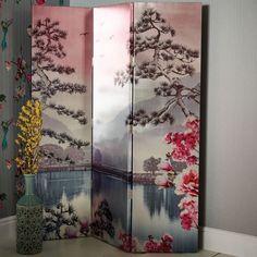 Kyasha Blush Screen by Arthouse - Blush : Wallpaper Direct Interior And Exterior, Wallpaper, Lakeside View, Ladder Decor, Room Divider, Screen, Home Art, Folding Screen, Printed Shower Curtain